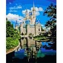 Замок Дисней Раскраска картина по номерам на холсте MCA903