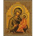 Тихвинская Божия Матерь Алмазная 5D мозаика с нанесенной рамкой на подрамнике Molly KM0798