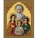 Вера, Надежда, Любовь и матерь их София Алмазная 5D мозаика с нанесенной рамкой на подрамнике Molly KM0716