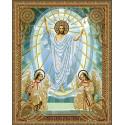Воскресение Христово Алмазная 5D мозаика с нанесенной рамкой на подрамнике Molly KM0717
