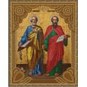 Святые Апостолы Петр и Павел Алмазная 5D мозаика с нанесенной рамкой на подрамнике Molly KM0796