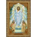 Воскресение Христово Алмазная 5D мозаика с нанесенной рамкой на подрамнике 20х30 см Molly KM0712
