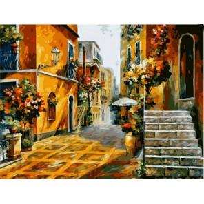 На улочках Италии Раскраска (картина) по номерам на холсте Iteso