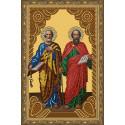 Святые Апостолы Петр и Павел Алмазная Алмазная 5D мозаика с нанесенной рамкой на подрамнике 20х30 см Molly KM0806