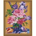 Внешний вид упаковки Букет с ирисами Алмазная мозаика вышивка на подрамнике Molly KM0765