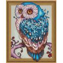 Внешний вид упаковки Мудрая сова Алмазная мозаика вышивка на подрамнике Molly KM0767