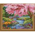 Внешний вид упаковки Весна в разгаре Алмазная мозаика вышивка на подрамнике Molly KM0774
