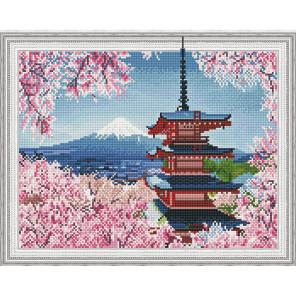 Внешний вид упаковки Японская пагода Алмазная мозаика вышивка на подрамнике Molly KM0779