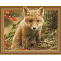 Внешний вид упаковки Лисёнок в осеннем лесу Алмазная мозаика вышивка на подрамнике Molly KM0780
