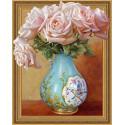 Чайные розы. Бузин Алмазная мозаика вышивка на подрамнике Molly KM0648