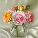 Букет из роз. Бузин Алмазная мозаика вышивка на подрамнике 30х30 см Molly KM0699