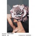 Сложность и количество цветов Девушка. Цветочная голова - роза Раскраска картина по номерам на холсте AAAA-RS024-80x120