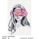 Сложность и количество цветов Девушка с розовым цветочным венком Раскраска картина по номерам на холсте AAAA-RS036-80x120