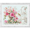 Пример оформления в рамку Розы для Герцогини Набор для вышивания Чудесная игла 110-011