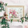 Пример вышитой работы в интерьере Розы для Герцогини Набор для вышивания Чудесная игла 110-011