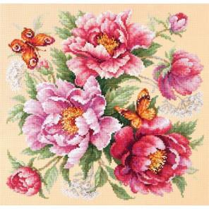 Магия цветов. Пионы Набор для вышивания Чудесная игла 140-001