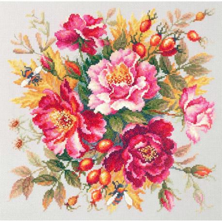 Магия цветов. Шиповник Набор для вышивания Чудесная игла 140-002
