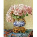 Восточные розы. Бузин Алмазная мозаика вышивка без подрамника Molly KM0247