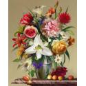 Цветы и фрукты. Бузин Алмазная мозаика вышивка без подрамника Molly KM0260