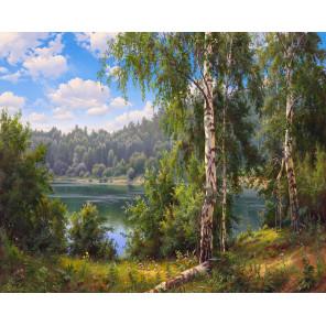 Лесное озеро Алмазная мозаика вышивка без подрамника Molly KM0262