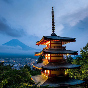 Японская пагода Алмазная мозаика вышивка без подрамника Molly KM0270