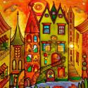 Город солнца Алмазная мозаика вышивка без подрамника Molly KM0267