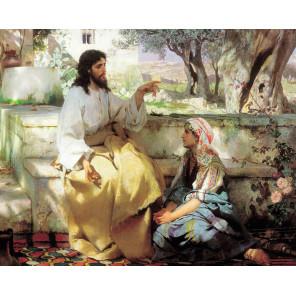 Христос и Самарянка Раскраска картина по номерам на холсте MG2155