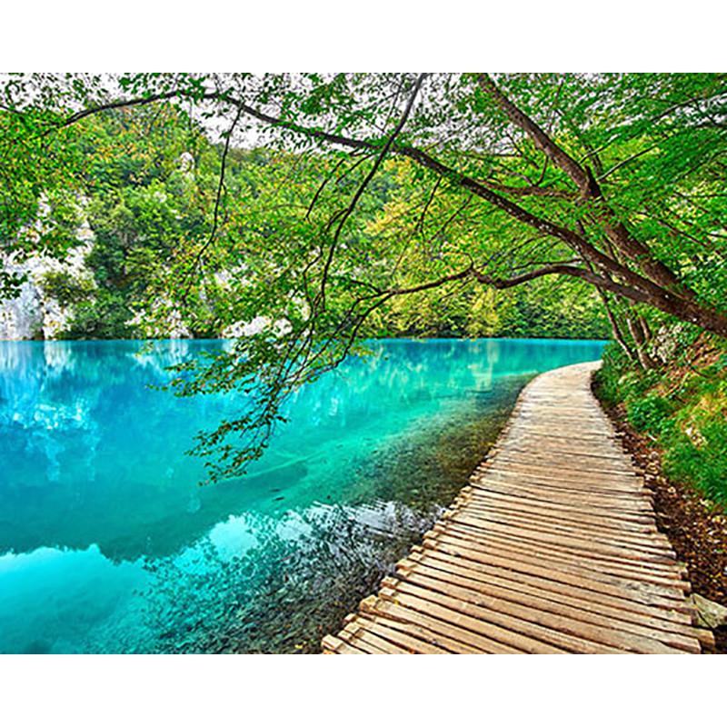 MG2150 Лазурное озеро Раскраска картина по номерам на ...
