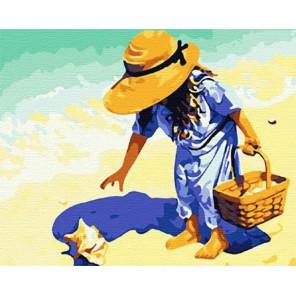 На пляж, за ракушками! Раскраска картина по номерам на холсте MG037