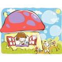 Смурфи-дом Раскраска картина по номерам на холсте MC056