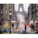 Париж под дождем Алмазная мозаика на подрамнике LG249