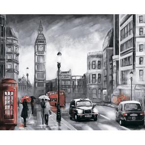 Лондон под дождем Алмазная мозаика на подрамнике LG250