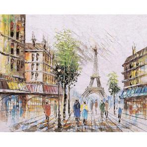Париж в лучах лета Алмазная мозаика на подрамнике LG252