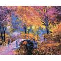 Яркая осень Алмазная мозаика на подрамнике LG256