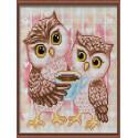 Милые совы Алмазная мозаика на подрамнике LE121