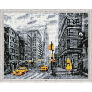 Город в чёрно-белых оттенках Алмазная мозаика на подрамнике QA204149