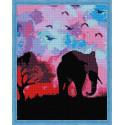 Пурпурное Сафари Алмазная мозаика на подрамнике QA204138