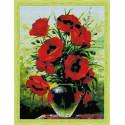 Солнечные цветы. Маки Алмазная мозаика на подрамнике QR200006