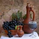 Натюрморт с виноградом Алмазная мозаика вышивка без подрамника Molly KM0227