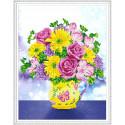 Цветочный микс Алмазная мозаика вышивка на подрамнике Molly KM0102