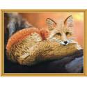 Рыжий лис Алмазная мозаика вышивка на подрамнике Molly KM0630