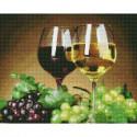 Натюрморт с виноградом Алмазная мозаика вышивка на подрамнике Molly KM0636