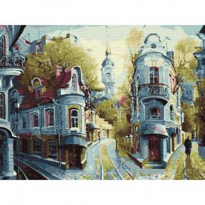 Внешний вид коробки упаковки Улочки старой Москвы Картина по номерам с цветной схемой на холсте KK0611