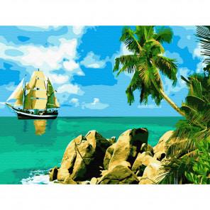 Сейшельские острова Картина по номерам с цветной схемой на холсте KK0619