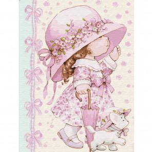 Маленькая модница Картина по номерам с цветной схемой на холсте KK0646