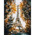 Париж. Эйфелева башня Картина по номерам с цветной схемой на холсте KK0609