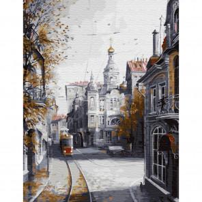 Внешний вид коробки упаковки Ушедшая Москва Картина по номерам с цветной схемой на холсте KK0621