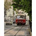 Трамвай Аннушка Картина по номерам с цветной схемой на холсте KK0665