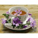 Цветочный чай Картина по номерам с цветной схемой на холсте KK0666