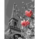 Весна в Париже Картина по номерам с цветной схемой на холсте KK0670